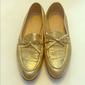 J. Crew Gold Tassel Loafers 8.5